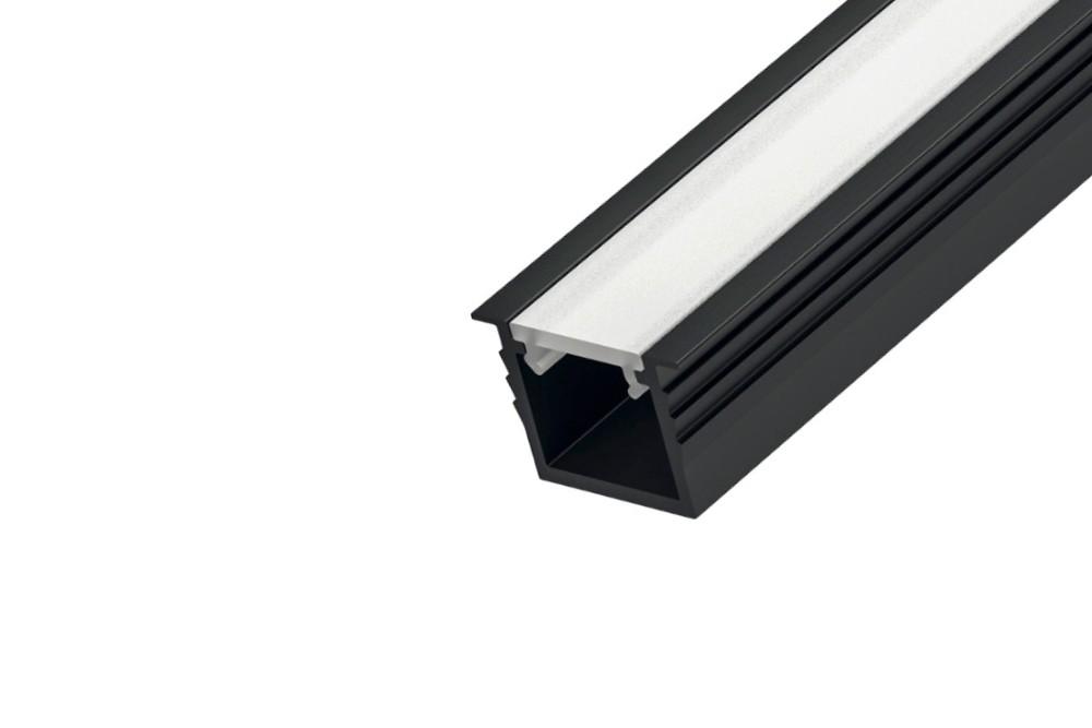 LED profilis įleidžiamas L-4 JUODA