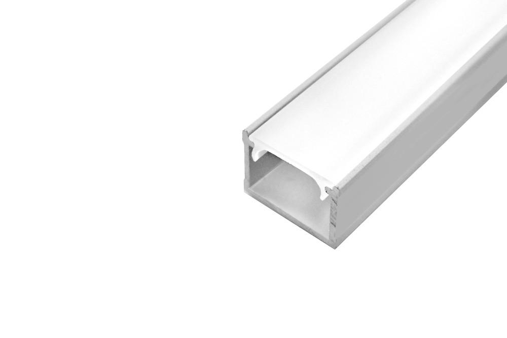 LED profilis išorinis L-5 ALIUMINIS
