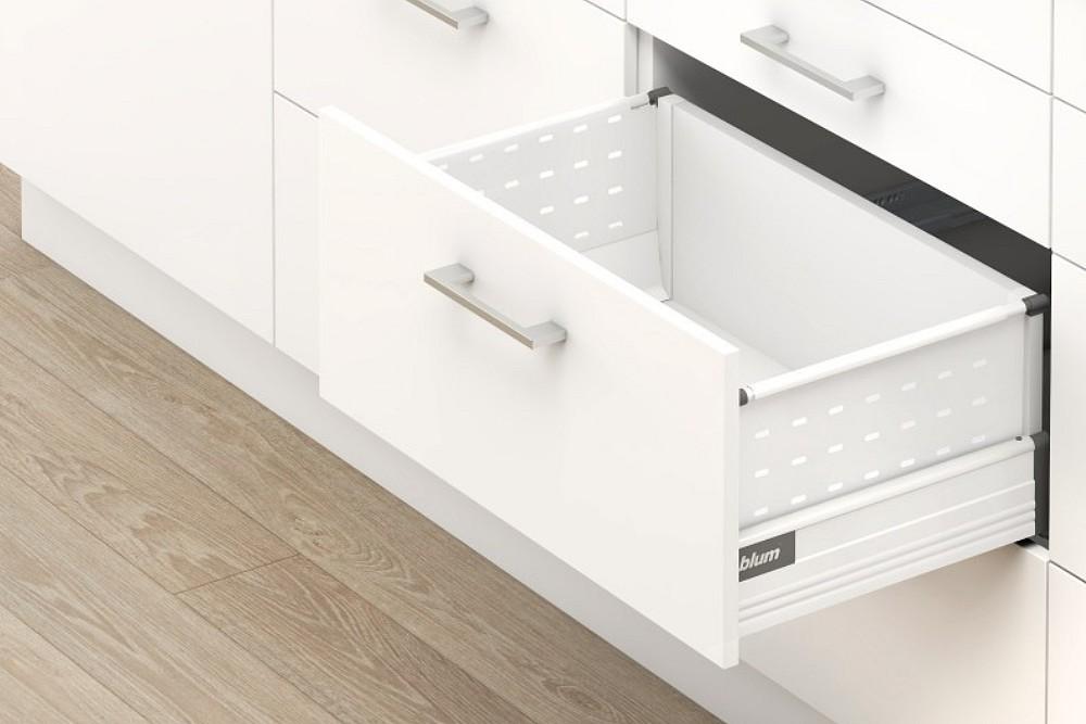 TANDEMBOX plus D+BOXSIDE stalčiaus komplektas 400mm BALTAS