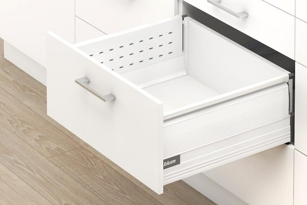 TANDEMBOX plus D+BOXSIDE stalčiaus komplektas 550mm BALTAS