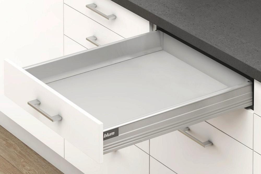 TANDEMBOX plus M stalčiaus komplektas 650mm PILKAS