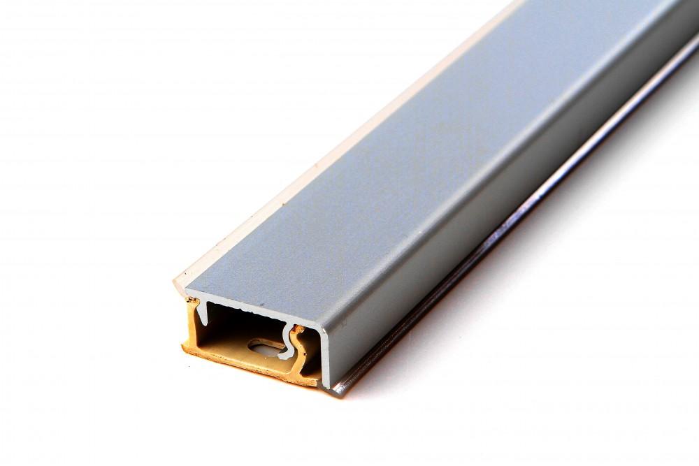 Staljuostė aliuminio stačiakampė 4.2 INOX