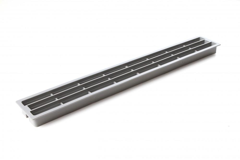Ventiliacinės grotelės PLAST 64x453mm PILKOS