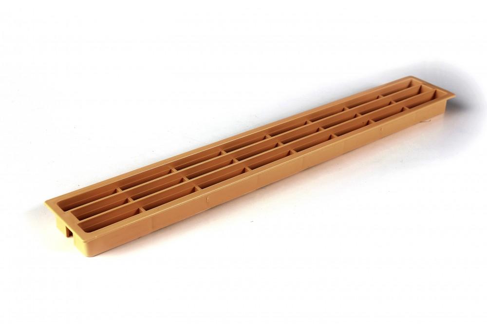 Ventiliacinės grotelės PLAST 64x453mm ĄŽUOLAS
