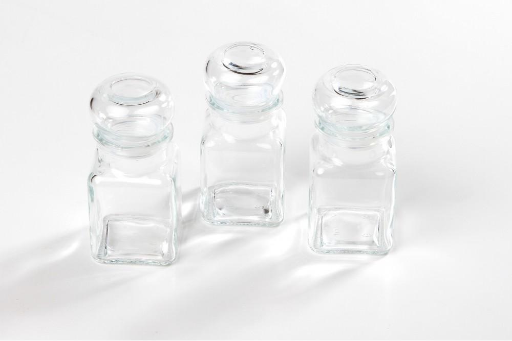 REKR stikliniai indeliai 3 vnt.