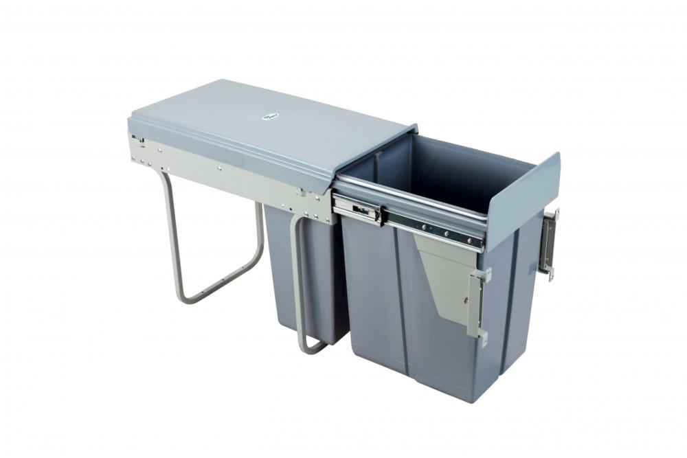 Šiukšliadėžė 30cm su fasado tvirtinimu ir švelnaus uždarymo funkcija