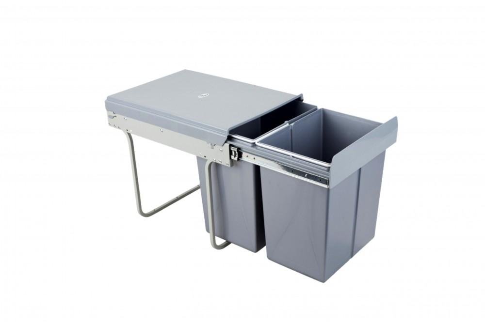 Šiukšliadėžė 40cm su švelnaus uždarymo funkcija